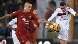 Nainggolan Van der Wiel Roma Cagliari Serie A