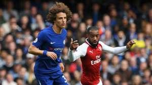 David Luiz Chelsea Alexandre Lacazette Arsenal 170917