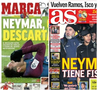 Neymar presse espagnole