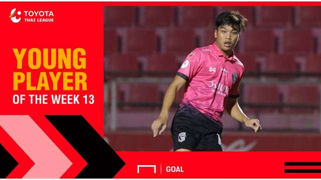ผลการค้นหารูปภาพสำหรับ Toyota Thai League Young Player of the Week 13 : จตุรภัทร สัทธรรม