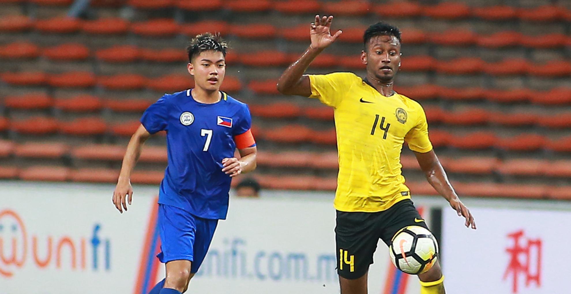 Syamer Kutty Abba, Malaysia U23 v Philippines U23, AFC U23 Championship, 22 Mar 2019