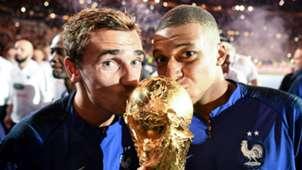 Kylian Mbappe Antoine Griezmann France celebrations