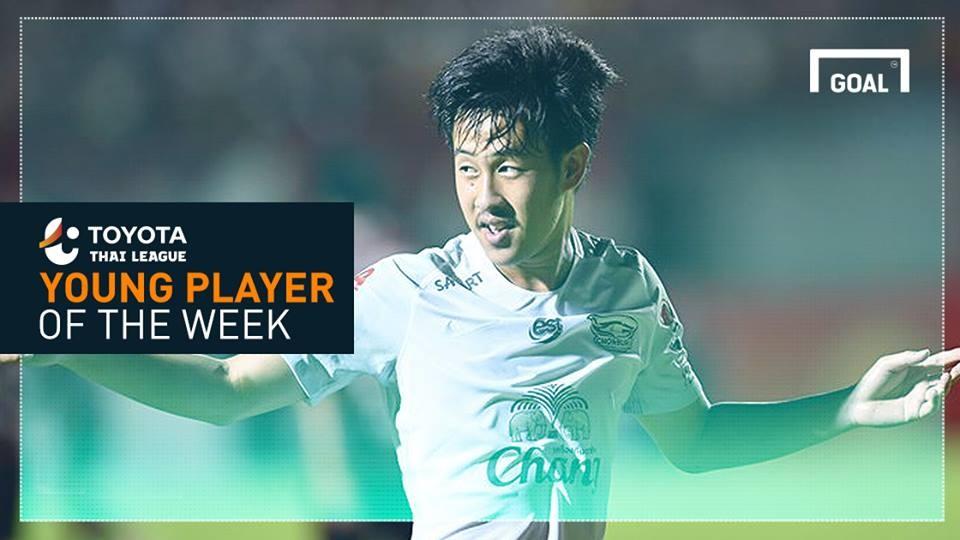 ผลการค้นหารูปภาพสำหรับ Toyota Thai League Young Player of the Week 6 : วรชิต กนิตศรีบำเพ็ญ
