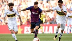 Lionel Messi Paolo Goltz Nahitan Nandez Barcelona Boca Joan Gamper 15082018