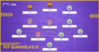 Pep Guardiola's most expensive XI
