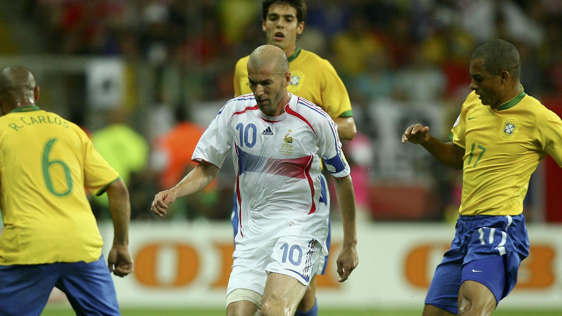 Zidane Gilberto Silva Brazil France 2006 World Cup 01072006