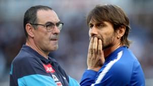 Maurizio Sarri Antonio Conte Napoli Chelsea 2017-18