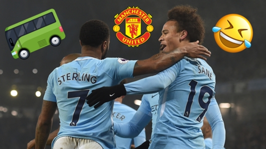Man City players taunt 'park the bus' Man Utd with chant after Spurs victory