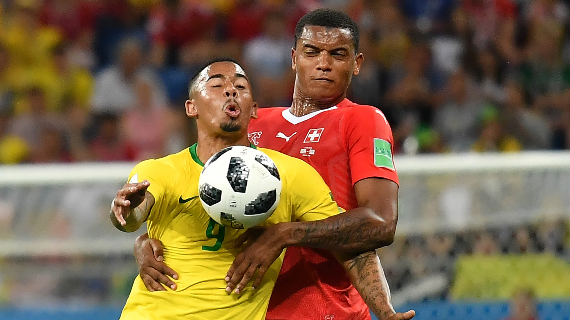 Gabriel Jesus Akanji Brazil Switzerland World Cup 17062018