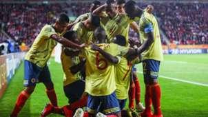 Colombia Sub 20 celebra gol en el Mundial Polonia 2019