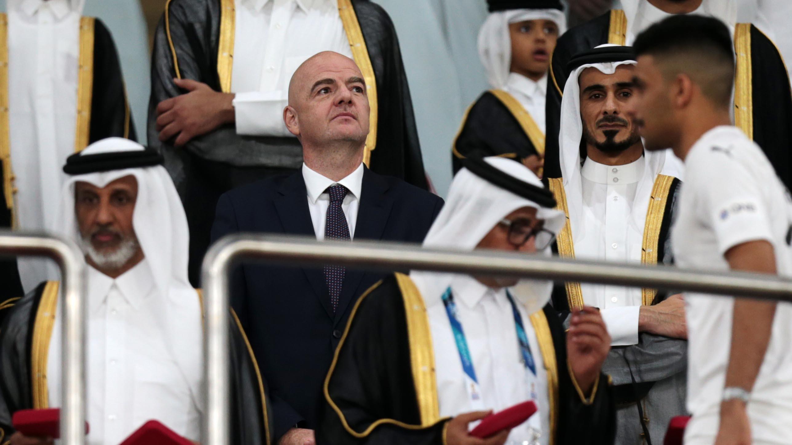Gianni Infantino Al Janoub Stadium Qatar World Cup 2022