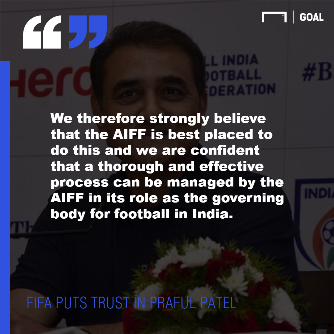PS FIFA to Praful Patel AIFF