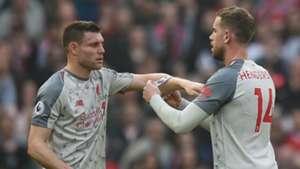 James Milner Jordan Henderson Liverpool 2019