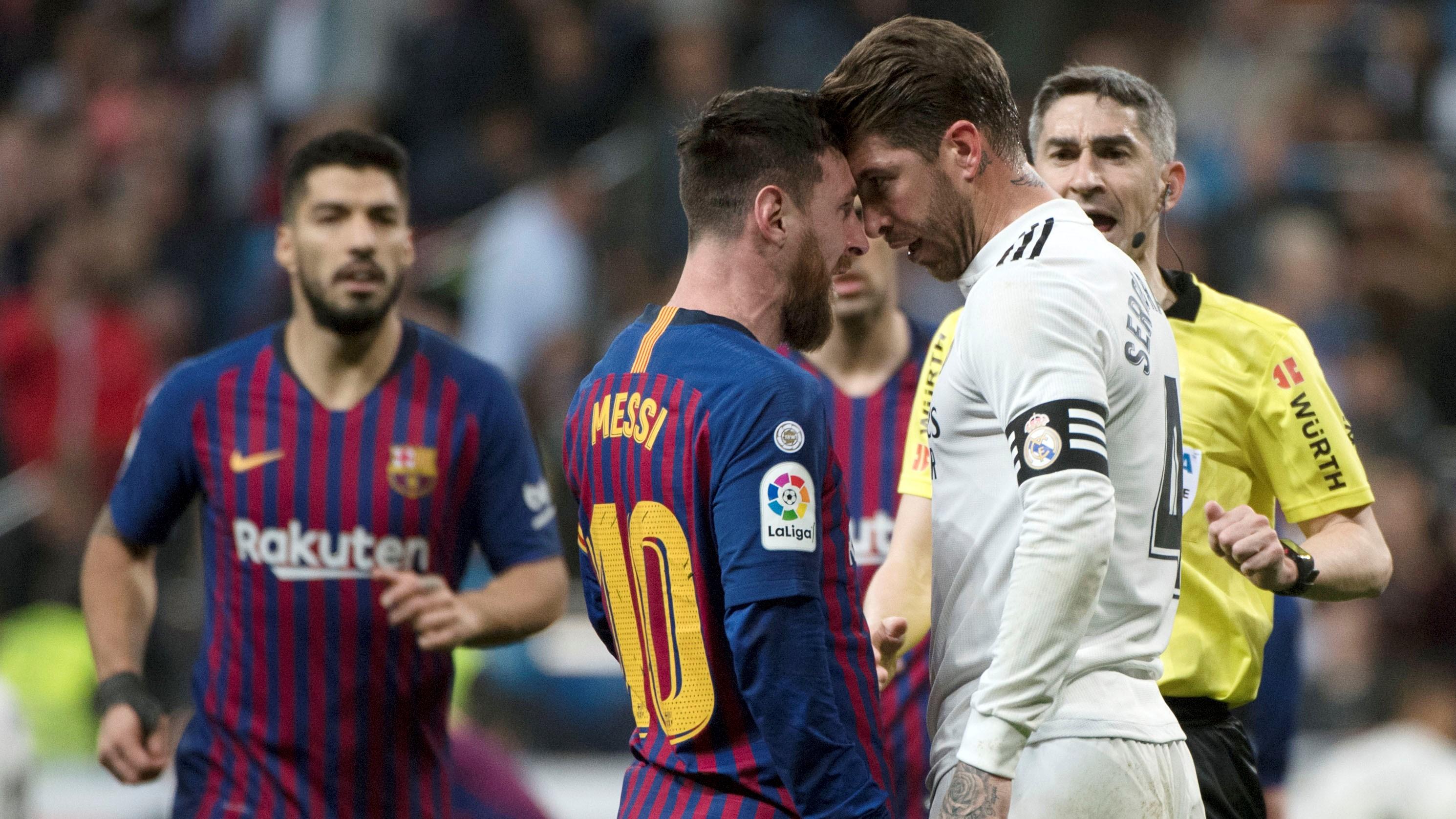 Sergio Ramos Lionel Messi Undiano Mallenco Real Madrid Barcelona LaLiga 02032019