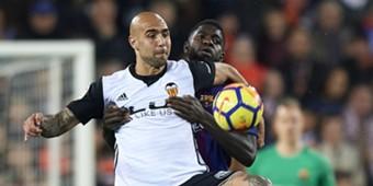 Simone Zaza Samuel Umtiti Valencia Barcelona La Liga 11262017
