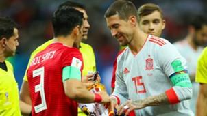 Sergio Ramos Iran Spain World Cup 2018
