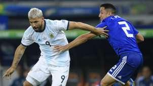 Sergio Aguero Ivan Piris Argentina Paraguay Copa American 2019