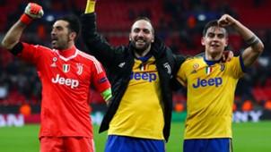 Buffon Higuain Dybala Tottenham Juventus Champions League
