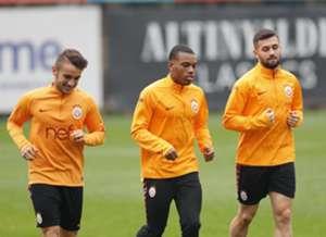 Celil Yuksel Garry Rodrigues Omer Bayram Galatasaray Training