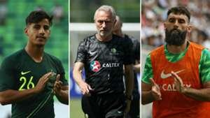 Daniel Arzani Bert van Marwijk Mile Jedinak Socceroos