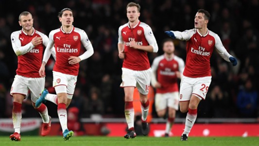 Arsenal celebrating 03012018