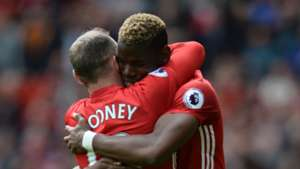 Paul Pogba Wayne Rooney Manchester United Crystal Palace