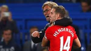 Jurgen Klopp Jordan Henderson Liverpool Premier League
