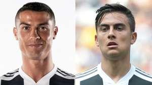 Cristiano Ronaldo Paulo Dybala Juventus Serie A collage