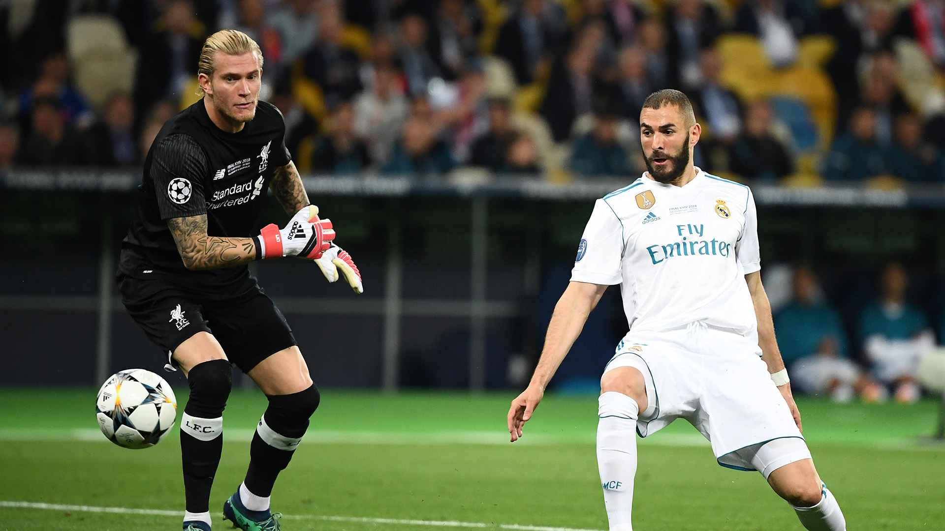 Benzema goal Karius Real Madrid Liverpool Champions League final 26052018
