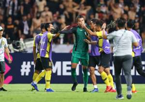 Right after the whistle was blown, Malaysia players showed Thailand goalkeeper Chatchai Budprom they were willing to give as well as they could take. He had earlier made an incendiary remark towards Malaysia in the pre-match press conference.
