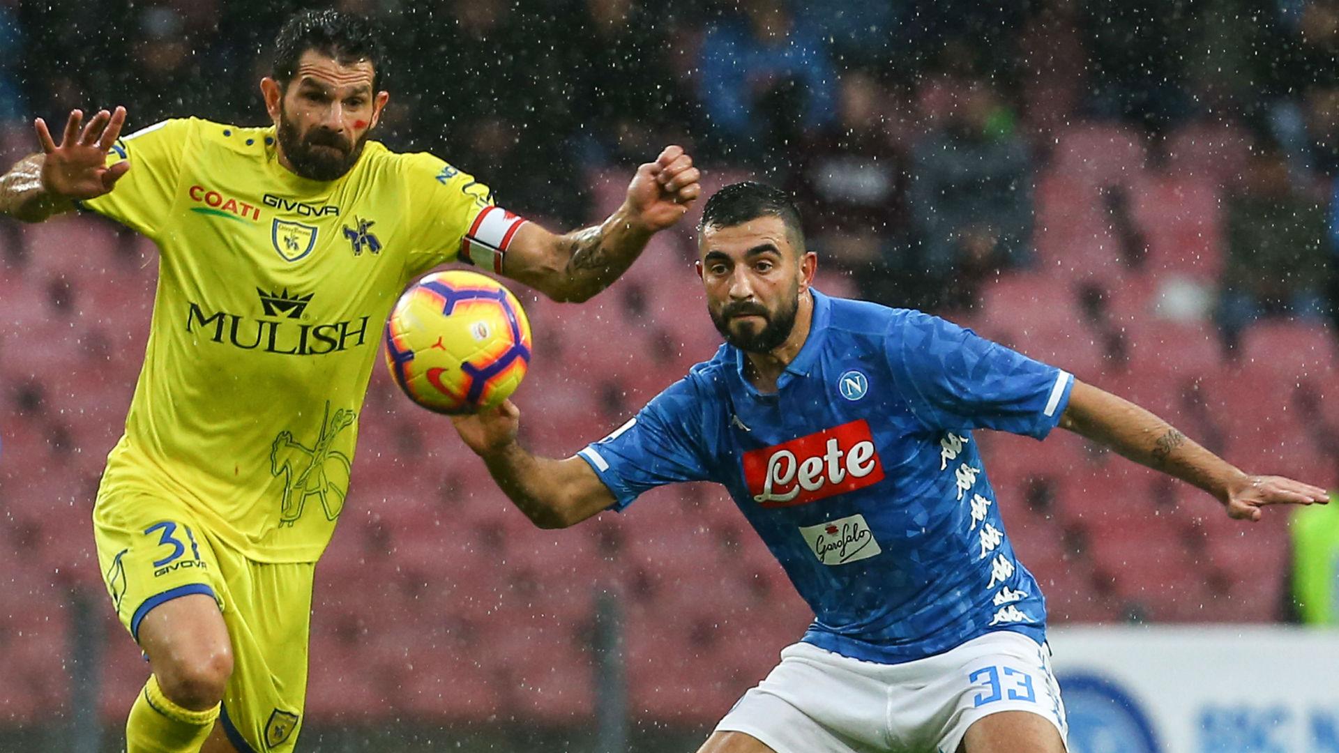 Albiol Pellissier Napoli Chievo Serie A