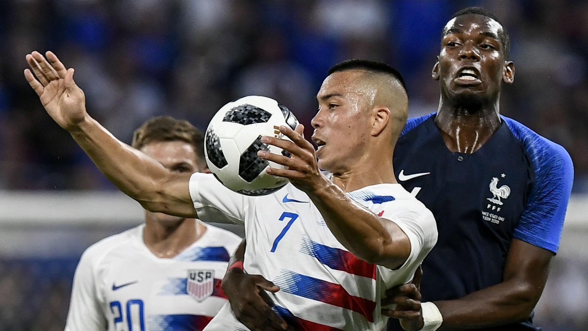 Paul Pogba Bobby Wood France USA international friendly 2018