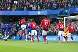 Antonio Rudiger Goal Chelsea Manchester United Premier League 10/20/18