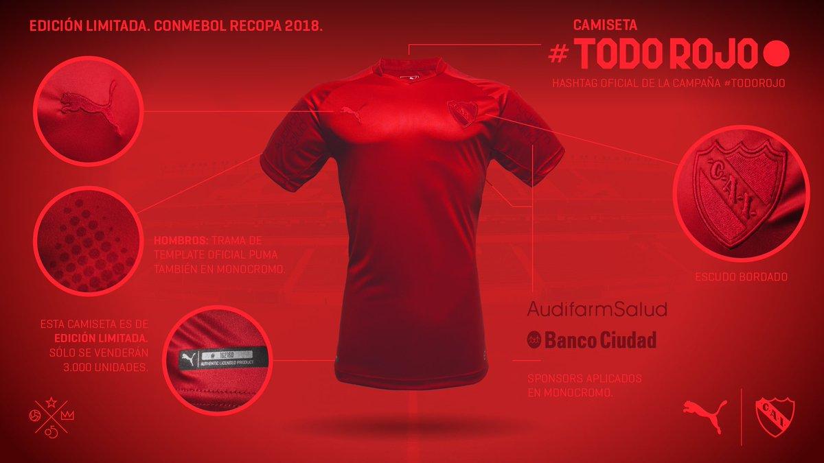 Camiseta Edicion Limitada Independiente Recopa Sudamericana 2018