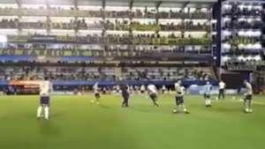 Captura Junior Calentamiento Boca Copa Libertadores