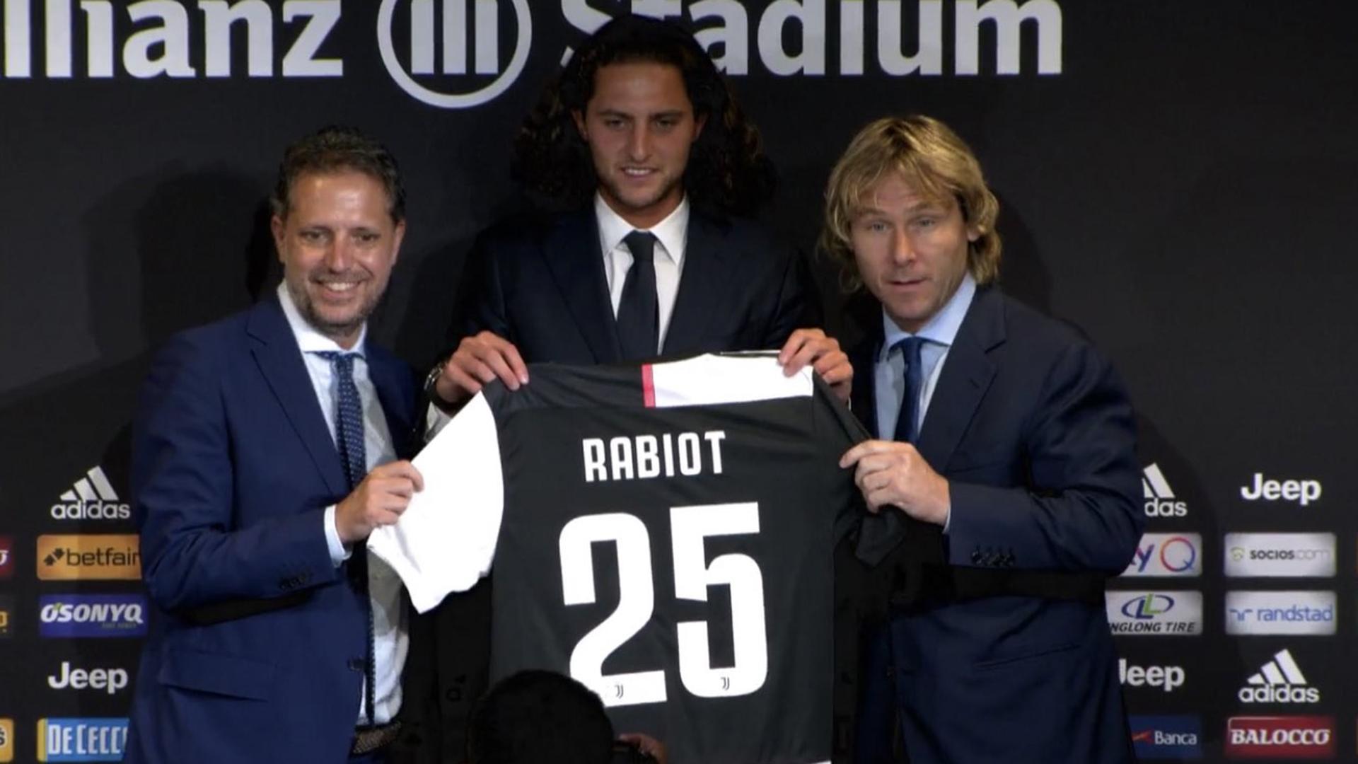 Paratici Rabiot Nedved Juventus