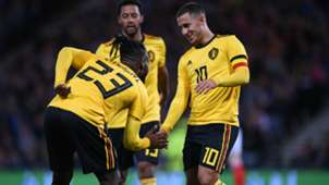 Eden Hazard Michy Batshuayi Belgium 07092018