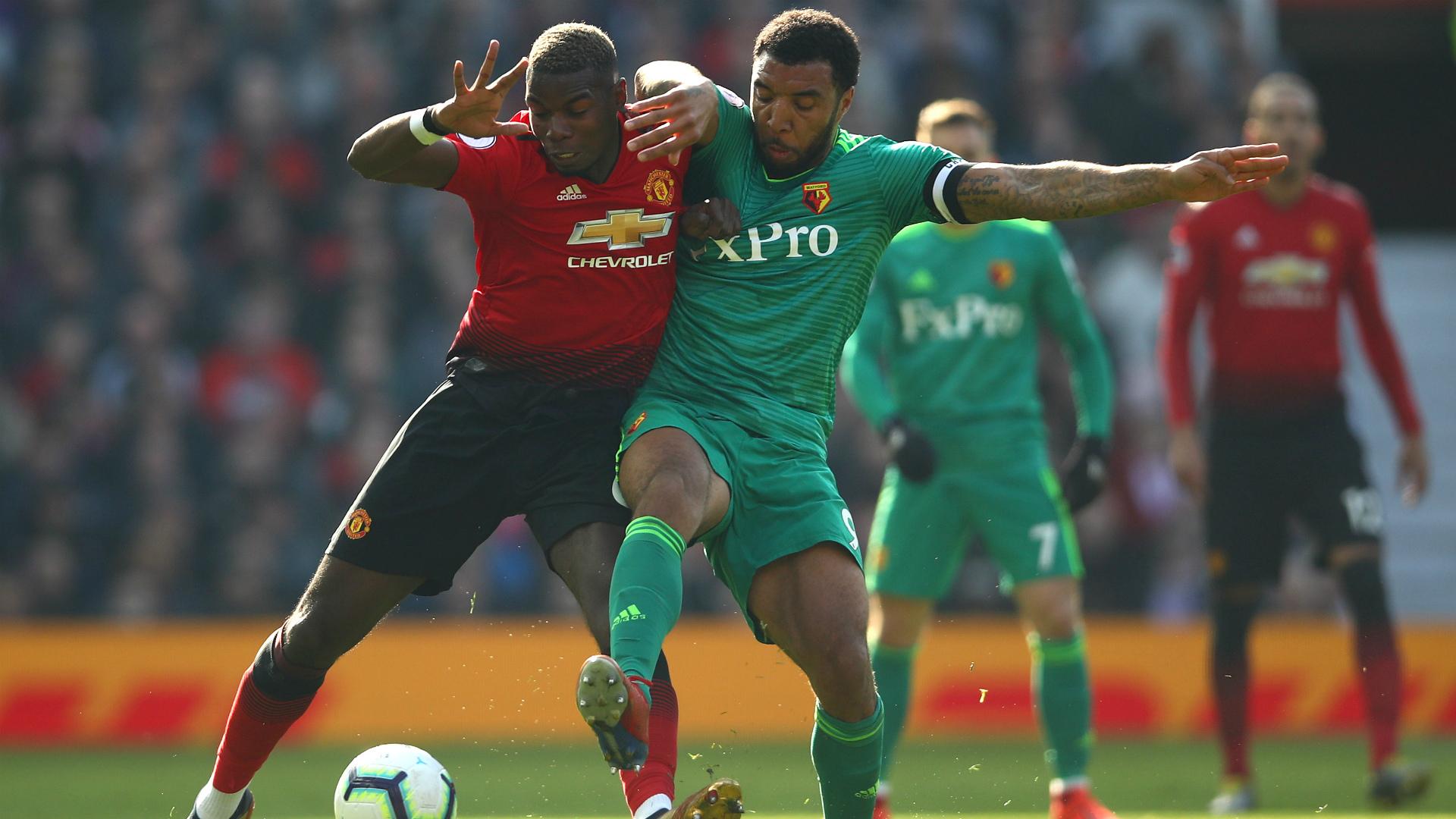 Paul Pogba Troy Deeney Manchester United Watford 30032019