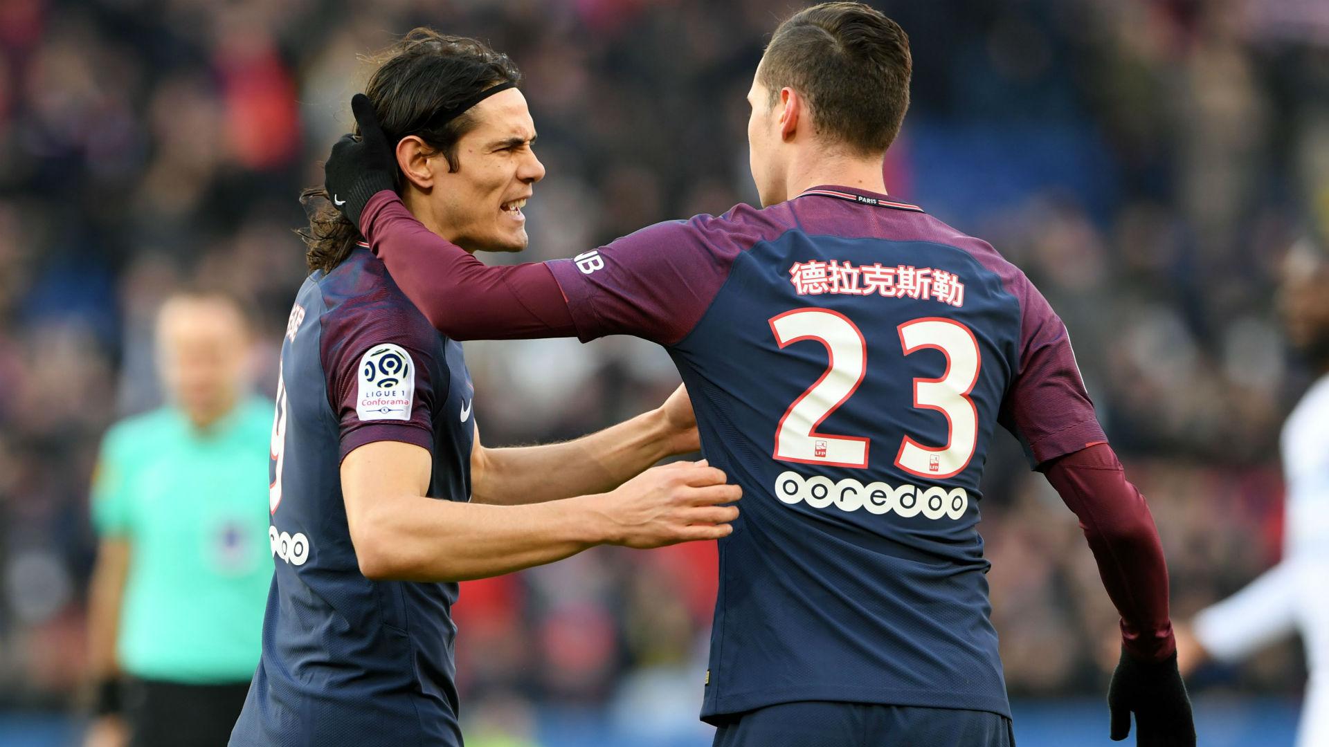 Julian Draxler Edinson Cavani PSG Strasbourg Ligue 1 17022018