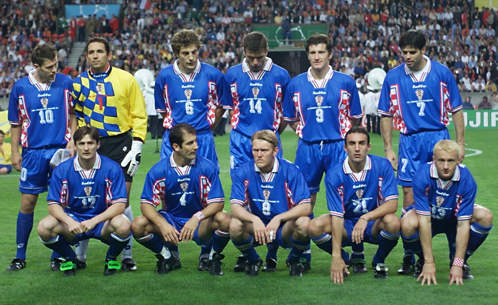 Croatia team third-place 1998 World Cup