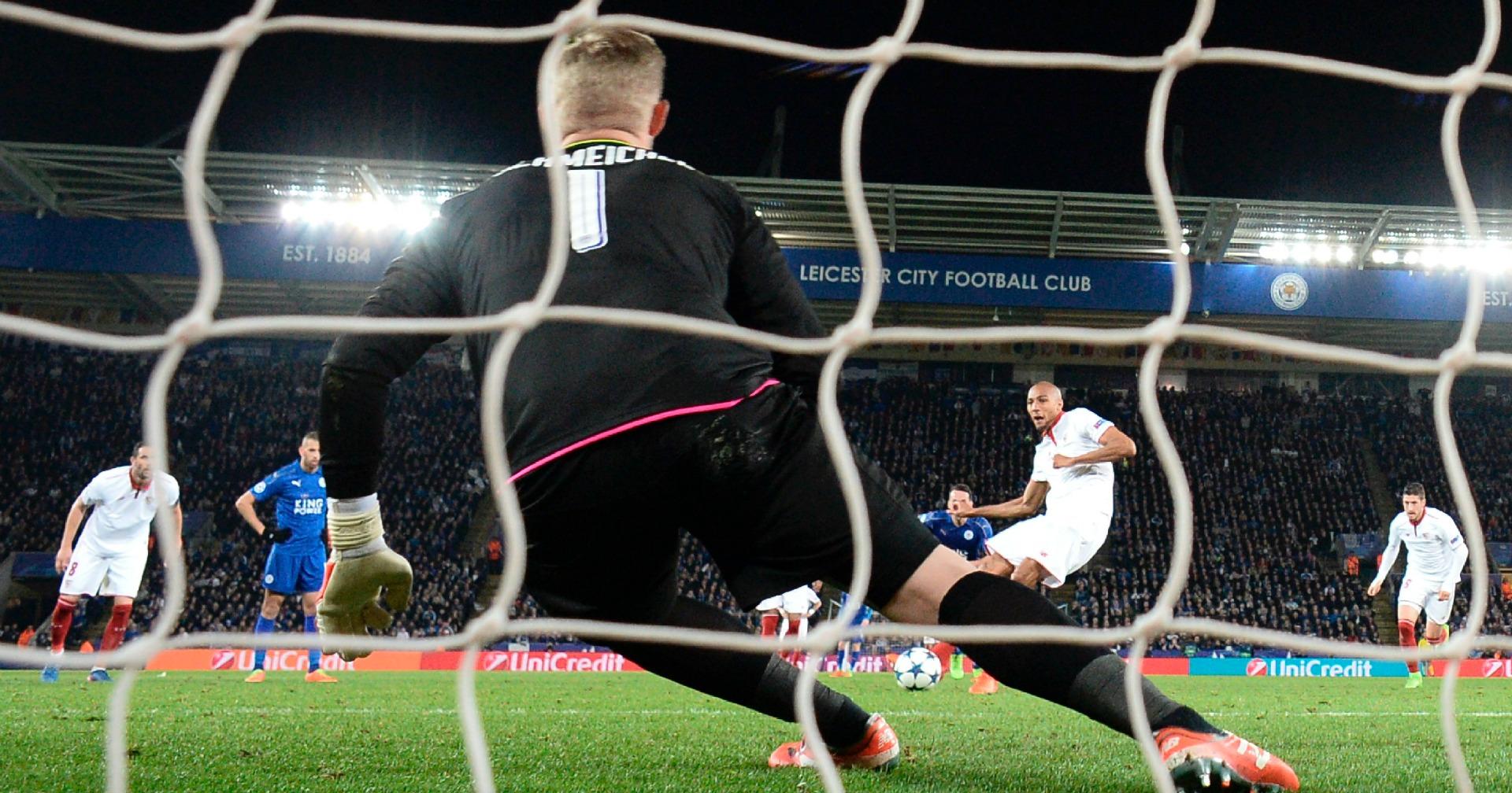 Schmeichel Leicester Sevilla