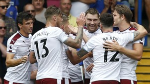 Burnley celebrates v Chelsea