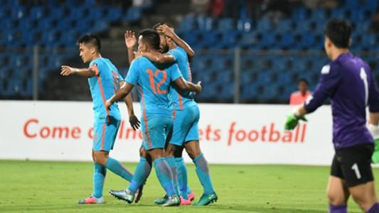 Sunil Chhetri Jeje Lalpekhlua Balwant Singh India Macau 2019 AFC Asian Cup qualifiers