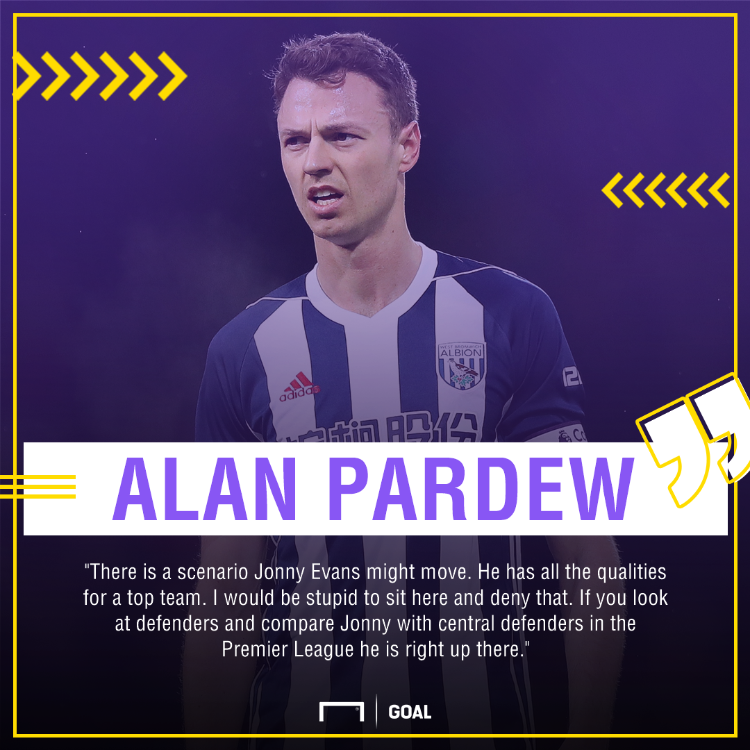 Alan Pardew Jonny Evans may be sold