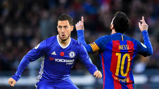 Eden Hazard and Lionel Messi