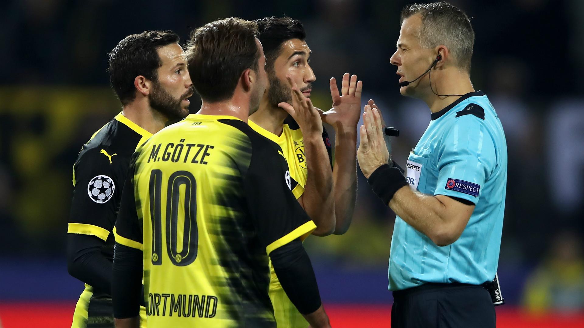 Nuri Sahin Bjorn Kuipers Borussia Dortmund Real Madrid Champions League 26092017