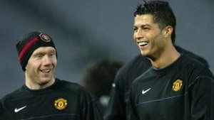 Paul Scholes Cristiano Ronaldo 12172008