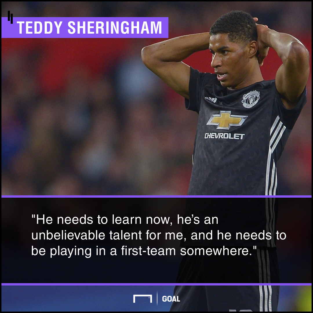 Rashford urged to quit Man Utd by treble winner Sheringham