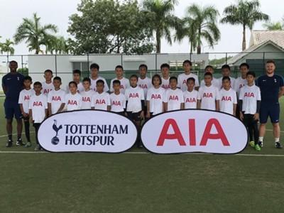 "Image result for AIA สานฝัน 24 เด็กไทยเข้าแคมป์ฝึกลูกหนังหลักสูตร ""สเปอร์ส เวย์ส"""