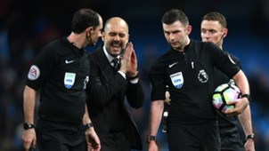 Pep Guardiola Manchester City Michael Oliver